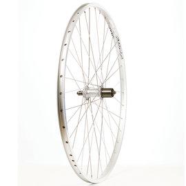 Wheel Shop Rear Touring Wheel - 700c, Double Wall, Freehub, QR - Silver