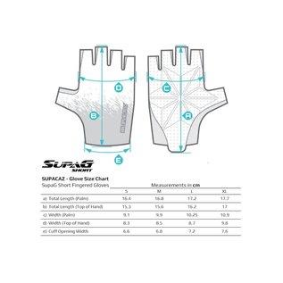 Supacaz Supacaz SupaG Short Road Gloves - Black/Red