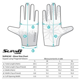 Supacaz Supacaz SupaG Long Road Gloves - Black/Neon Blue
