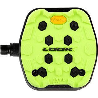 LOOK Look Trail Grip Platform Pedals - Lime
