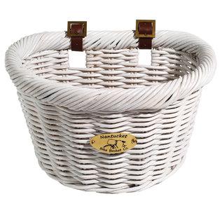 Nantucket Nantucket Cruiser D-Shaped Basket, White