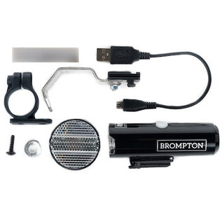 Cat Eye Brompton Front Light - CATEYE VOLT 400 - cw/bracket and USB cable