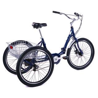 Evo EVO Latitude Folding 8spd  Adult Tricycle - Navy