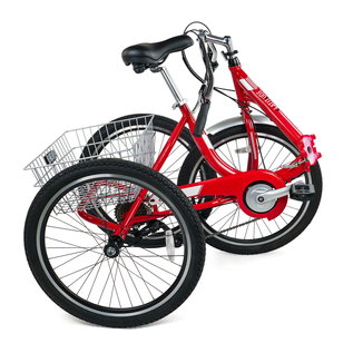 Evo EVO Latitude Folding 8spd  Adult Tricycle - Red