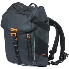 Basil Miles, Backpack/Pannier, 17L - Black/Orange