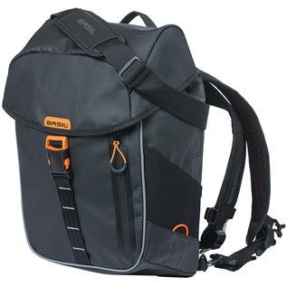 Basil Basil Miles, Backpack/Pannier, 17L - Black/Orange