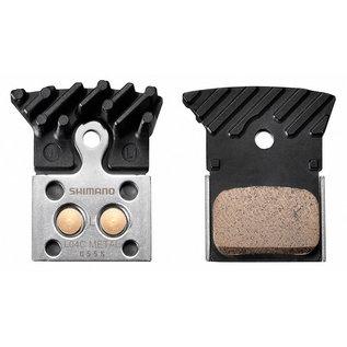 Shimano Shimano L04C Hydraulic Road Disc brake pads, Metal w/Fin & Spring