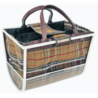 Axiom Axiom Yaletown Urban Fashion Bagsket - Burb Plaid Bag with White Basket 12 kg load capacity
