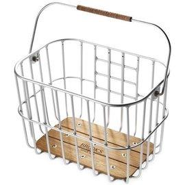 Brooks Hoxton Wire Basket w/Wooden Base (click-fix mount included)