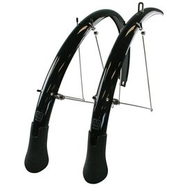 Evo 700c / 35mm Power Guard LT Pre-assembled Fender Set with Extra long mud flap for 700 x 23 to 32C - Black