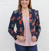 Punchy's Navy Floral Boss Babe Blazer