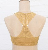 Punchy's Mustard Racerback Lace Bralette
