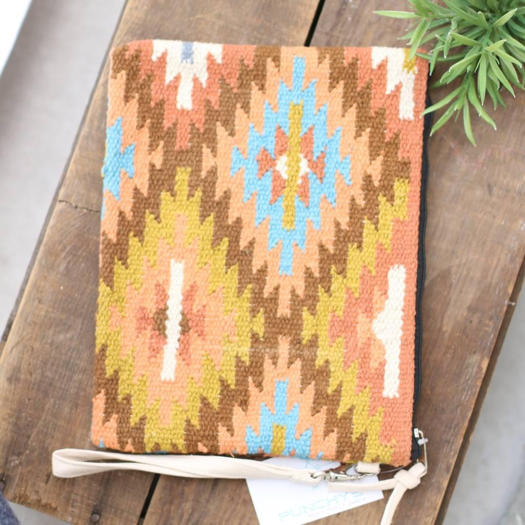 Punchy's Multi Color Navajo Carpet Clutch