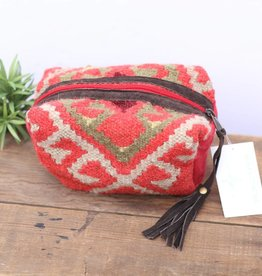 Punchy's Red Navajo Inspired Mini Travel Pouch