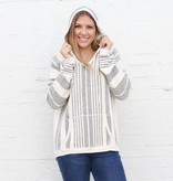Punchy's Ruidoso White and Black Hoodie Pullover