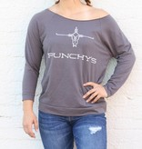 Punchy's Punchy's Logo Charcoal 3/4 Sleeve Sweat Shirt
