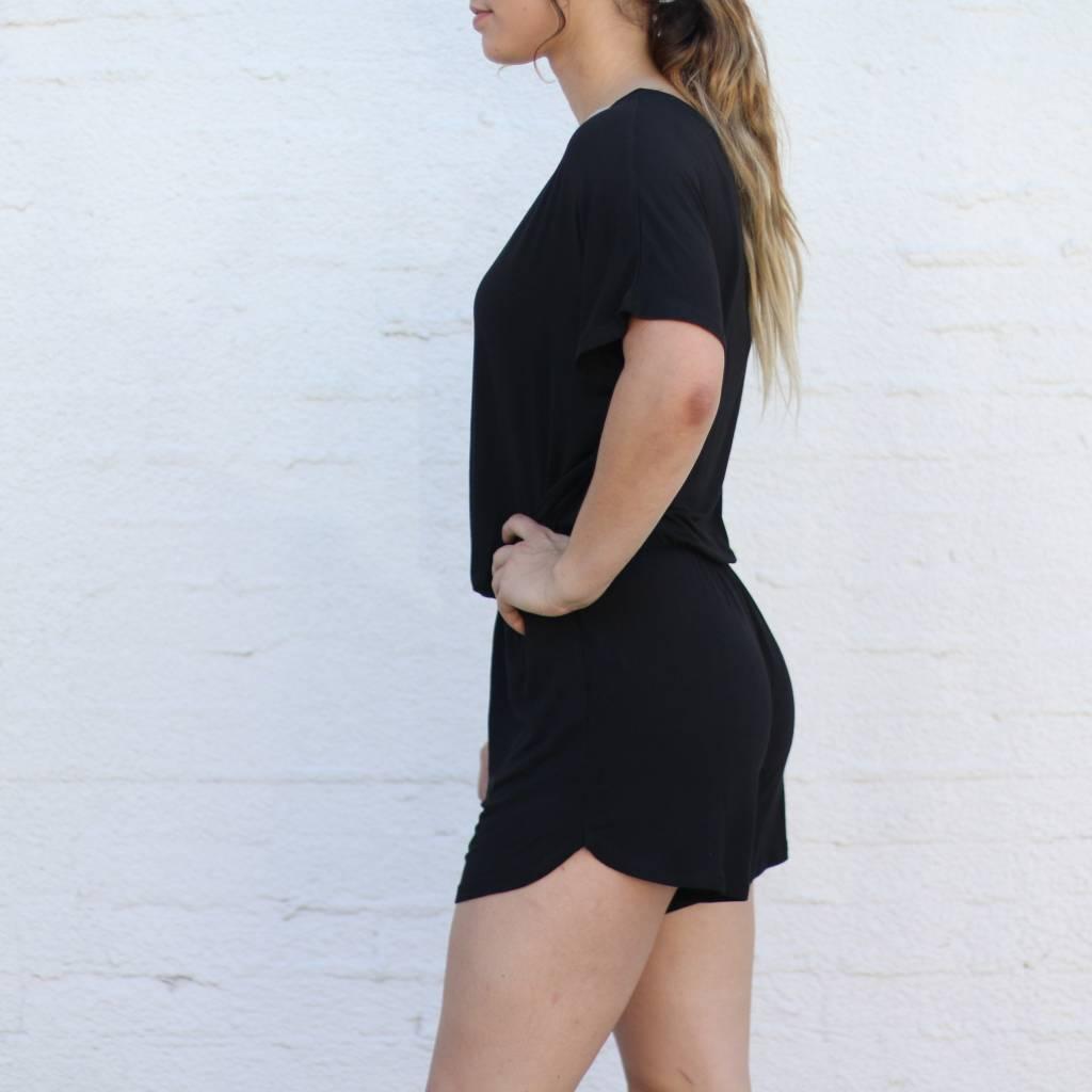d5d499c8ae8 Black Sleek Jersey Short Romper