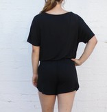 Punchy's Black Sleek Jersey Short Romper