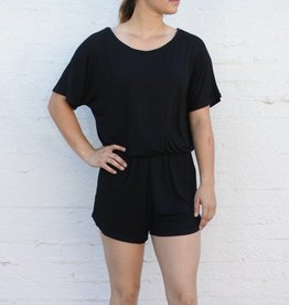Black Sleek Jersey Short Romper