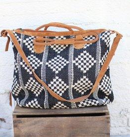 Punchy's Checker Board Hand Loomed Weekender Bag