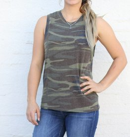 Punchy's The Camo Muscle Tee Tank