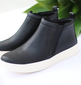 Punchy's Black High Top Slip On Sneakers