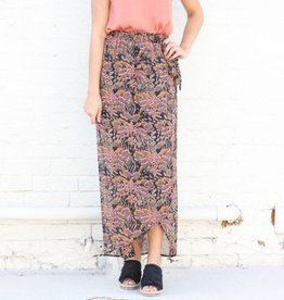 Punchy's Printed Wrap Maxi Skirt