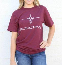 Punchy's Burgundy Punchy's Logo Tee