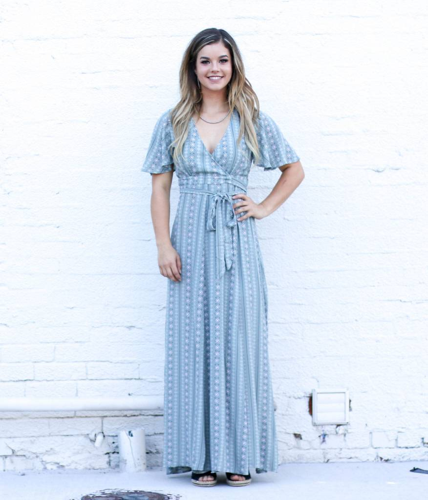 f8aaf27220b Sage Wrap Maxi Dress