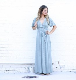 Punchy's Sage Wrap Maxi Dress