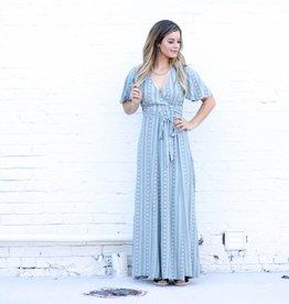 Sage Wrap Maxi Dress