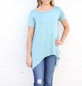 Punchy's Seamfoam Pointed Hem T Back Basic Top