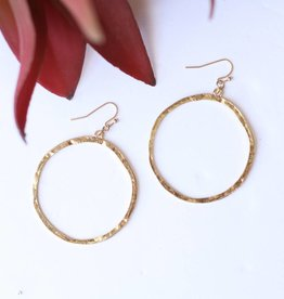 Punchy's Burnished Gold Circle Outline Earring