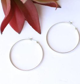 Punchy's Plain Silver Hoop