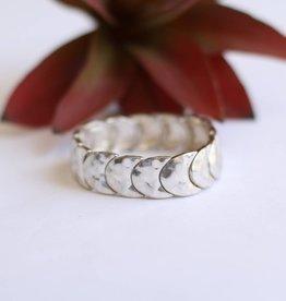Punchy's Silver Crescent Stretch Bracelet