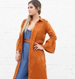 Punchy's Rust Blouse Dress Duster