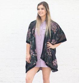 Punchy's Feeling Fancy Velvet Burnout Kimono
