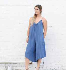 Punchy's Wide Leg Tencel Jumpsuit