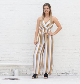 Punchy's Mustard Striped Jumpsuit
