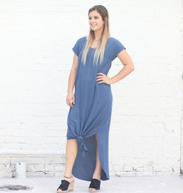 Punchy's Slate Blue Strappy Back Maxi Shift Dress