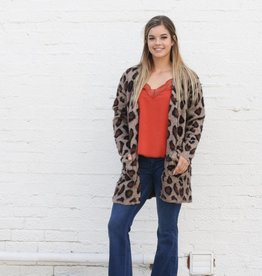 Punchy's Leopard Two Pocket Boyfriend Cardigan