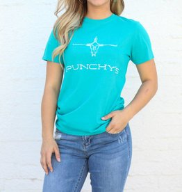 Punchy's Turquoise Punchy's Tee