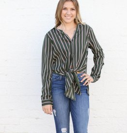 Punchy's The Olive and Wine All Tied Up Blouse