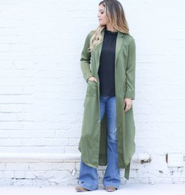 Punchy's Olive Satin Robe Duster
