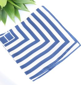 Punchy's Navy Two Tone Striped Scarf