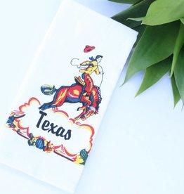 Punchy's Texas Cowboy Vintage Kitchen Towel