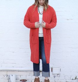 Punchy's Rust Oversized Double Pocket Cardigan