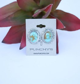 Punchy's Carico Lake Oval Stud Earring