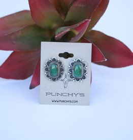 Punchy's Dark Fox Flower Stud