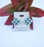 Punchy's Mixed Mine Turquoise Diamond Earring